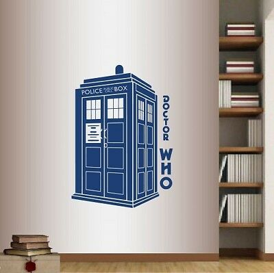 £20.28 • Buy Wall Vinyl Decal  Doctor Who Phrase Words Tardis Police Box Wall Sticker 47