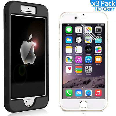 AU14.99 • Buy 3 In 1 Hybrid PC Hard Back Silicone Bumper Cover Drop Defender For IPhone 8 7 6s