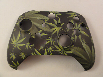 Cannabis Green Leaves Front Shell For Xbox One S Controller  - New - Model 1708 • 15.99$