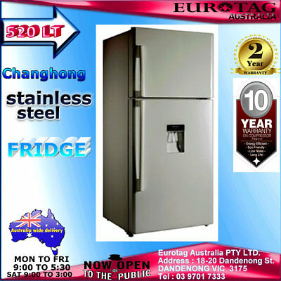 AU850 • Buy Changhong FTM520R02SD 520L Stainless Steel Fridge With Water Dispenser Brand New