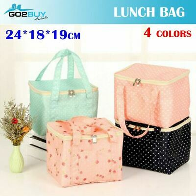 AU7.95 • Buy Large Portable Polka Dots Thermal Cooler Lunch Box Carry Picnic Case Storage Bag
