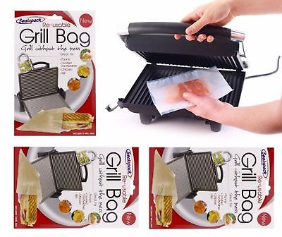 Sealapack Re-usable Grill Bag Ideal For Paninis Toasted Sandwiches Chicken Fish • 3.99£