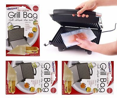 Set Of 2  Re-usable Grill Bag Gret For Paninis Toasted Sandwiches Chicken Fish • 5.80£