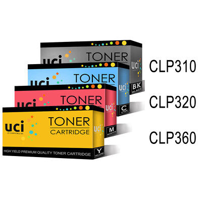 4 X Toner Cartridges For Samsung CLP310 CLP315 CLP320 CLP325 CLP360 CLP365 • 32.99£