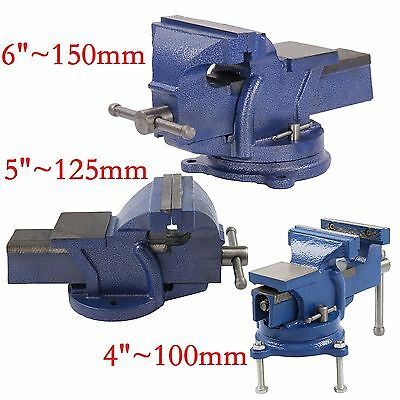 4 /5 /6  Heavy Duty Work Bench Vice Engineer Jaw Swivel Base Workshop Vise Clamp • 19.99£