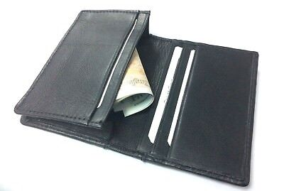 £3.99 • Buy Handcrafted REAL LEATHER Travel Card Holder Wallet Bus Pass Ticket Soft Slim New