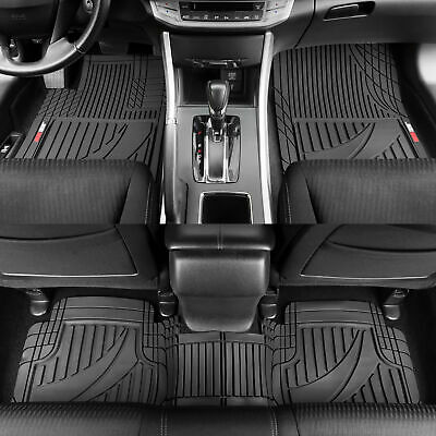 $35.90 • Buy Motor Trend Customizable Trim-to-Fit All Weather Rubber Car Floor Mats 3PC Black