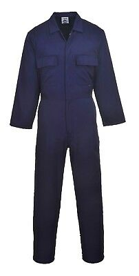 $31.95 • Buy Portwest S999 Navy Euro Work Poly/Cotton Coverall, Mechanic/Boilersuit, S - 4XL