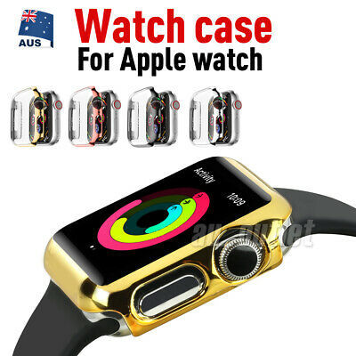 AU4.95 • Buy Apple Watch 44/ 42/ 42/ 38mm Full Case Cover & Built-in Glass Screen Protector