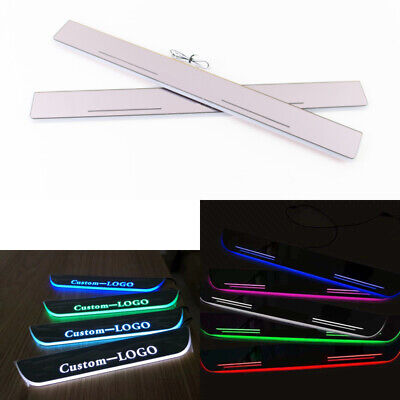 $54.99 • Buy Customized LED Moving Courtesy Light Door Sill Scuff Plate For Ford Mustang