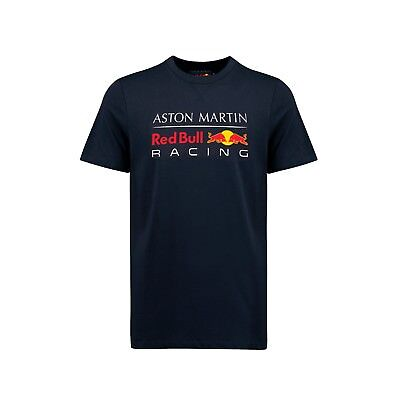 Aston Martin Red Bull Racing Official Men's Large Logo T-shirt - Blue - 2018/19 • 18£