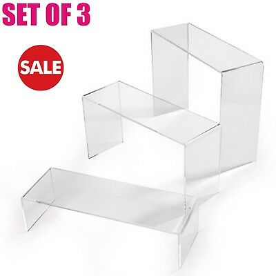 New Clear Nesting Plinths Acrylic Riser Counter Jewellery Display Stand • 12.84£
