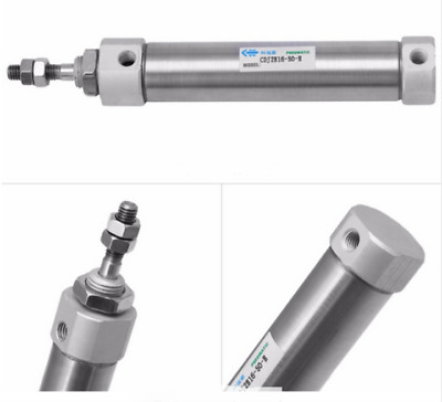Pneumatic Mini Air Cylinder 16mm Bore - 50mm Stroke Double Acting Single Rod UK • 14.95£