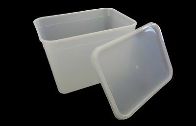 4 Litre Rectangular Ice Cream Tubs / Food Storage Containers • 13.95£