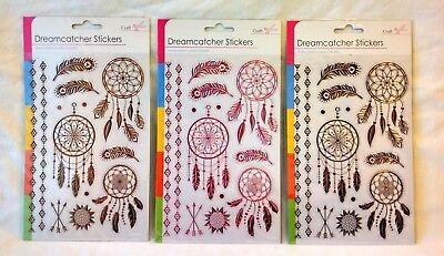 1 Sheet Of Peel Off Adhesive  Foil Craft  Stickers Dreamcatchers.  • 1.99£