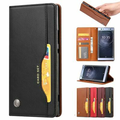 AU14.26 • Buy For Sony Xperia 5 XA3 Ultra XZ3 4 Flip Leather Stand Wallet Magnetic Case Cover