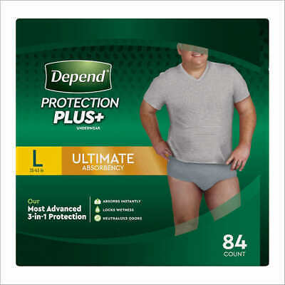 $52.88 • Buy Depend FIT-FLEX Underwear For Men Size: Large - 84Ct - Free Shipping!