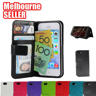AU9.96 • Buy Leather Wallet Credit Card Holder Case Flip Cover For Apple IPhone 7 Plus
