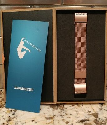 $ CDN65.90 • Buy Fitbit Charge 2 Milanese Bands Metal Pink, Swees Replacement Small & Large