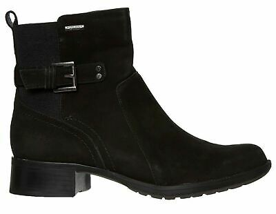 £27.99 • Buy ROCKPORT Claudia Women's Black Suede Leather Zip Up Boots - Many Sizes Available