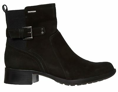 ROCKPORT Claudia Women's Black Suede Leather Zip Up Boots - Many Sizes Available • 27.99£
