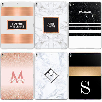 Personalised Custom Name/initial/text Monogram Hard Case Cover For Apple Ipad • 12.95£