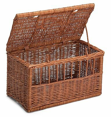 Wicker Cat Medim Pet Carrier Basket Chemicals Free Durable • 42£