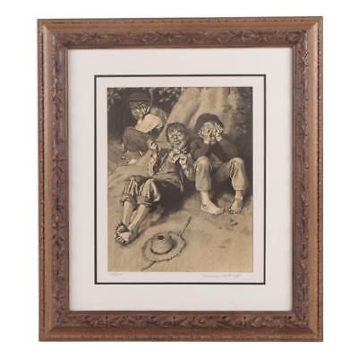 $ CDN2067.29 • Buy Rare 1932 NORMAN ROCKWELL Hand Signed Framed L/E Lithograph   First Smoke W/Coa