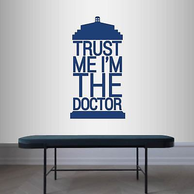Vinyl Decal Tardis Quote Trust Me I'm Doctor Who Police Box Wall Sticker 2498 • 21.60£