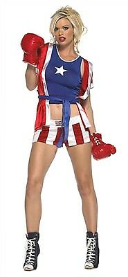 £18.03 • Buy Leg Avenue Costume Knock Out Champ 83396 Red/Blue Small/Medium