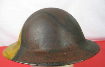 $199.99 • Buy WWI US Army AEF M1917 Helmet Shell W/Hand Painted Camouflage Pattern - NICE #2