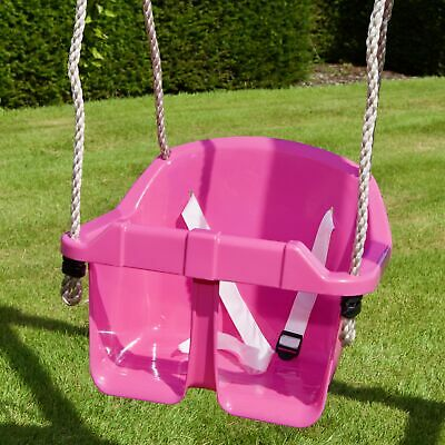 Children's Toddler/Baby Adjustable Bucket Swing Seat By Rebo - 3 Colours • 19.95£