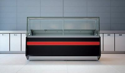 Pico Deli Counter Cooling/ Serve Over Counter/ Square Glass Display Chiller • 1,890£