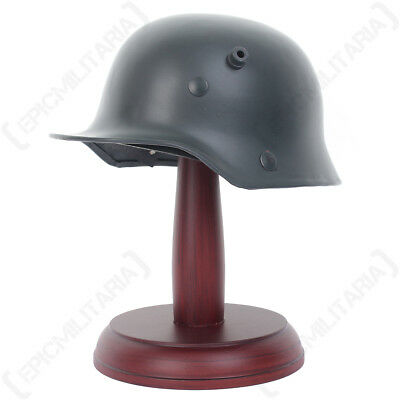 Miniature German M16 Helmet With Stand - WW1 Army Model Gift Military Soldier • 29.95£