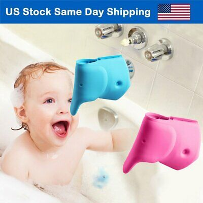 $8.86 • Buy Bath Spout Cover Baby Bath Tub Faucet Silicone Safe Extender Protector Elephant