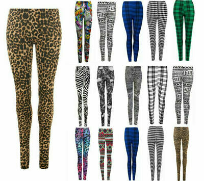 £5.47 • Buy New Ladies Womens Printed Skinny Full Length Leggings Sexy Stretchy Pant 8 To 26