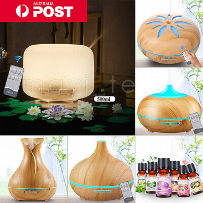 AU20.89 • Buy Essential LED Oil Ultrasonic Aroma Aromatherapy Diffuser Air Humidifier Purifier