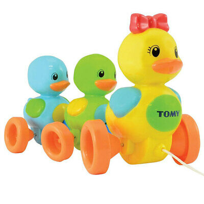 Tomy Quack Along Ducks W/ Sounds/Push-Pull Along For Toddler/Baby/Kids Toy Fun • 16.29£