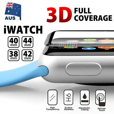 AU4.95 • Buy Apple Watch 4 3 2 3D Tempered Glass FULL COVER Screen Protector 38/42/40/44mm