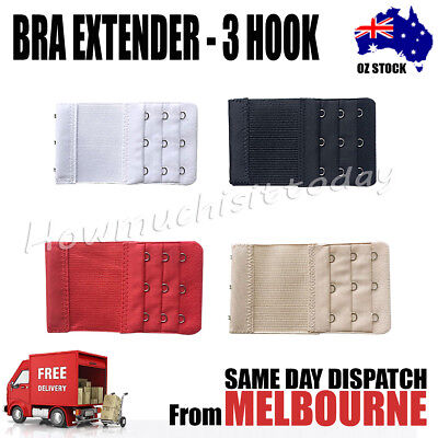 AU4.50 • Buy 3 Hook 3 Rows Clip On Bra Extender Extension Strip Womens Maternity Strap Buckle