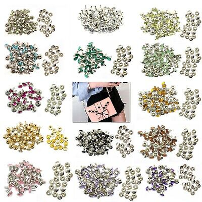 8mm 10/50pcs Crystal Diamante Rivets Studs For Decoration Of Leather Bags Shoes  • 2.15£