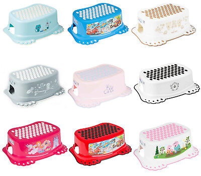 Baby Kids Step Stool Safe Non-slip Toddlers Potty Toilet Training Bathroom • 7.99£