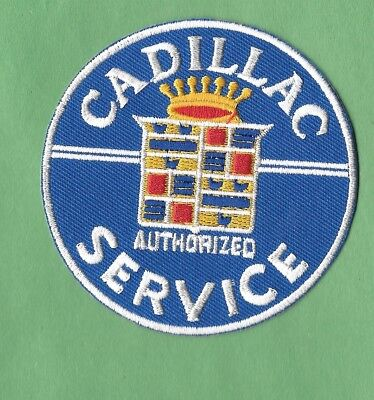 New Cadillac 'Service' Round 3 Inch Iron On Patch Free Shipping • 4.99$
