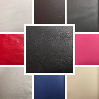 PVC Faux Leather Vinyl Fabric Upholstery Material High Quality Craft FR BS7177 • 0.99£