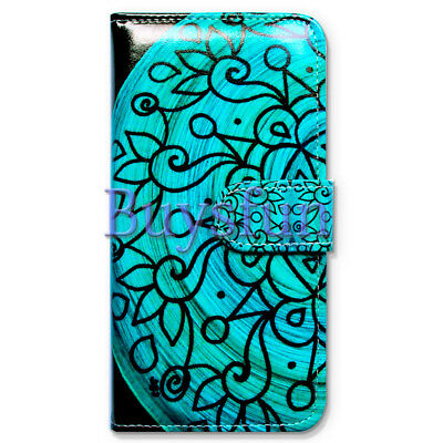 $ CDN9.27 • Buy Covdo Turquoise Flower Wallet Leather Cover Case For Samsung Galaxy Note 8