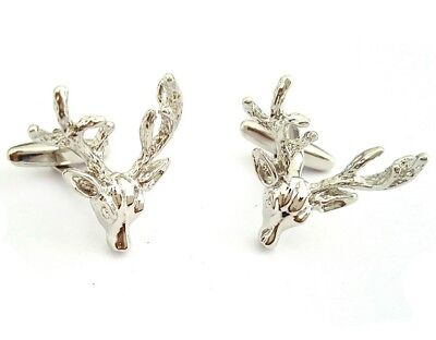 Stag Head Cufflinks - Stags Head With Full Antlers • 12.49£