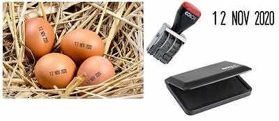 £21.99 • Buy EGG DATE STAMPING KIT WITH FOOD GRADE INK - For Smallholders/Farms/Private Use