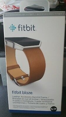 $ CDN20.24 • Buy NEW Genuine Fitbit Blaze Leather Accessory Band And Frame Small Brown/Camel OEM