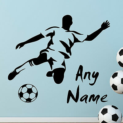 FOOTBALL PERSONALISED NAME WALL STICKERS Wall Art Decal Quotes Wall Sticker  N41 • 10.60£