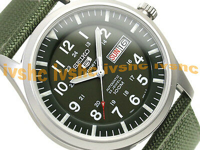$ CDN172.76 • Buy SEIKO 5 SNZG09 SNZG09K1 Military Army Nylon Original Box Automatic !